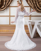 Mermaid Sweetheart Brush Train Sequin Lace Wedding Dresses With Jacket