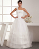 amazing prom dresses Ball Gown One Shoulder Floor-length Tulle Tiered Wedding Dresses