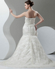 Mermaid Strapless Brush Train Sequin Flower Lace Wedding Dresses With Beading