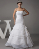 Mermaid Sweetheart Floor-length Organza Crystal Tiered Wedding Dresses