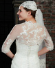 Astounding Half Sleeve Lace Bridal Jacket/Wedding Wrap Size 2 And Size 4