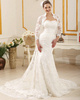 Western Saloon Girl Style Wedding Dresses Intelligent Lace High neck Bridal Jacket/Wedding Wrap