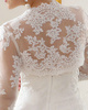 Terrific Lace Open Front Bridal Jacket/Wedding Wrap Size 2 And Size 4