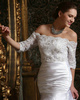 Surpassingly Beautiful Lace Off-the-shoulder Bridal Jacket/Wedding Wrap