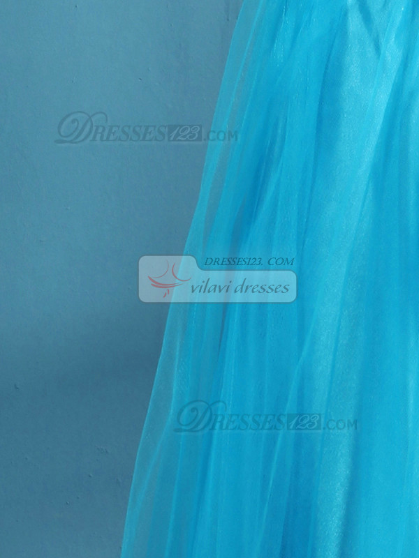 Awesome A-line Tulle Floor-length Beading Prom Dresses
