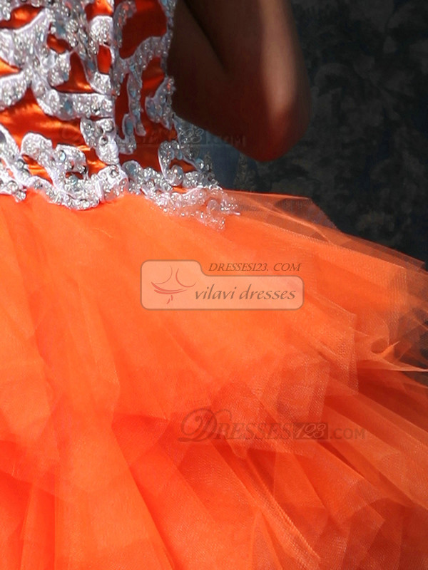Glamorous Princess Tube Top Short/Mini Appliques Homecoming Dresses