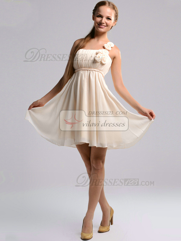 drapped dress chiffon short