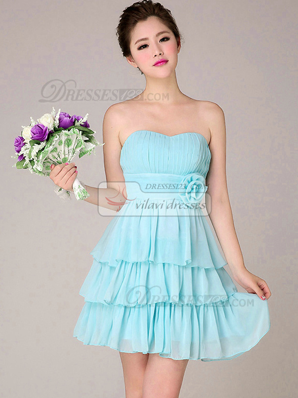short bridesmaids dresses strapless