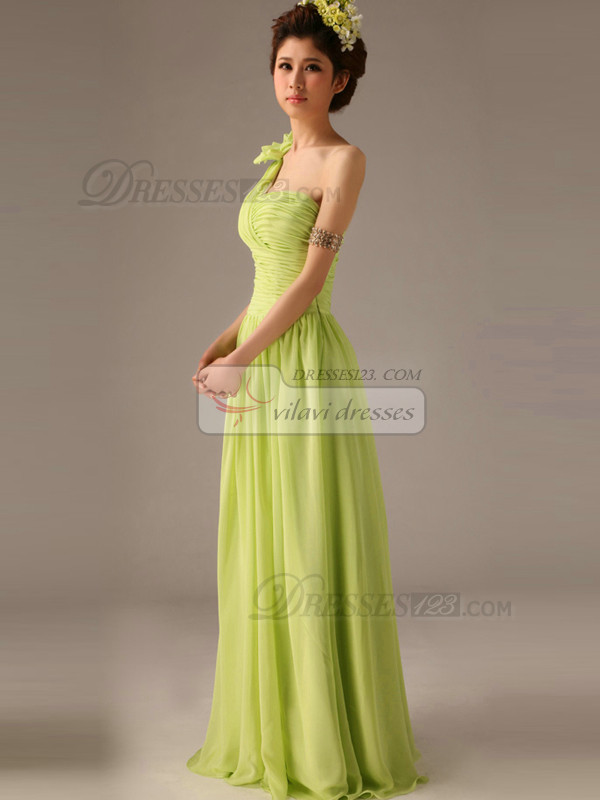 Surpassingly Beautiful A-Line One shoulder Flower Bridesmaid Dresses