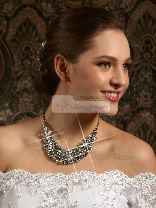 High Quality Alloy 200 Pieces Of Rhinestones Necklace