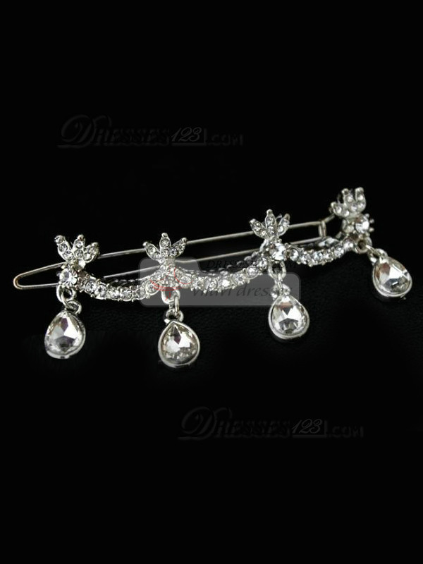 Exquisite Alloy Rhinestone Wedding Barrette Headpiece