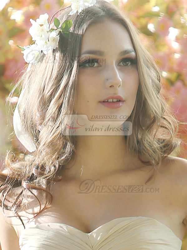 Sweet Flower Wreath Headpiece with Ribbon