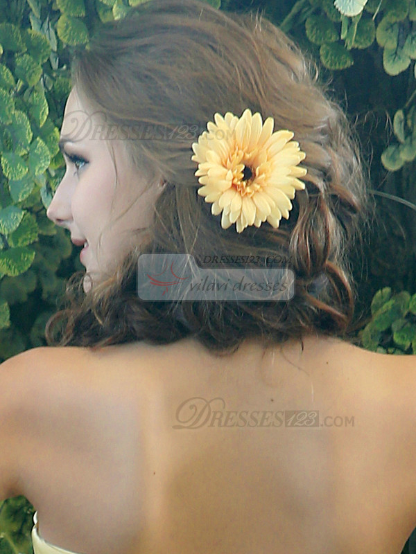 Beautiful Yellow Chrysanthemum Hairpin Headpiece