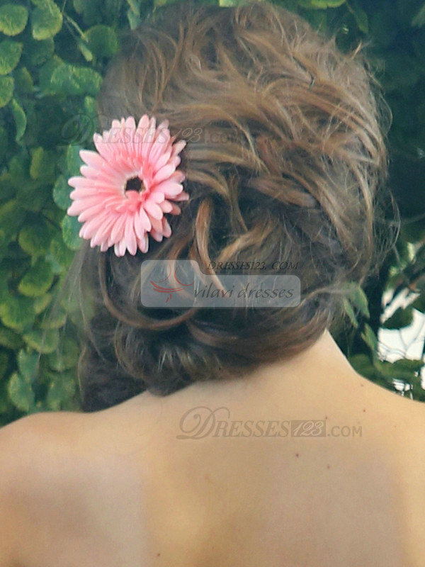 Lovely Pink Chrysanthemum Hairpin Headpiece