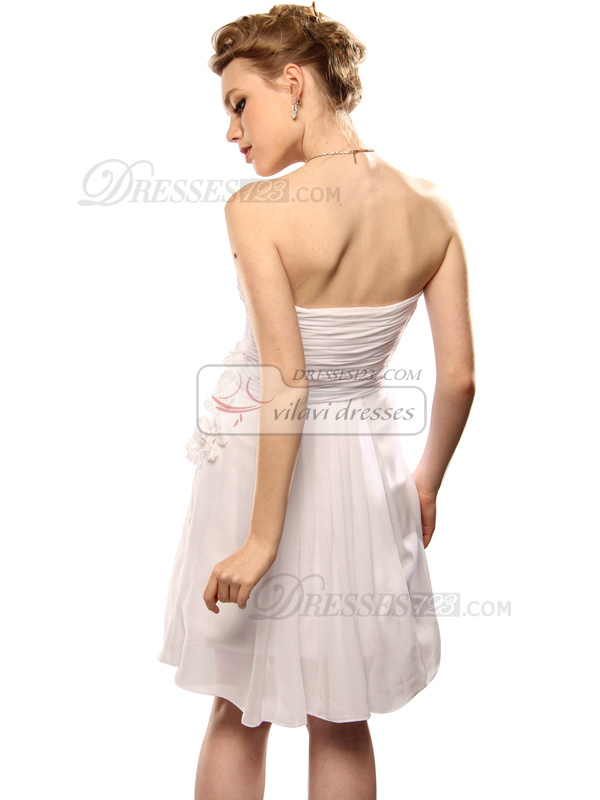 Outstanding A-line Chiffon Short/Mini Flower Sweet 16/Homecoming Dresses