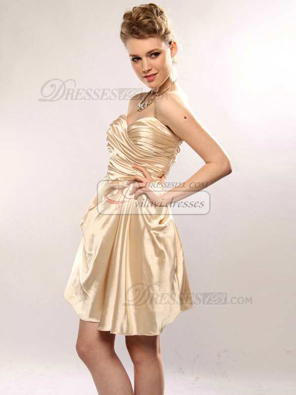 Astonishing A-line Taffeta Short/Mini Tiered Prom/Cocktail Dresses