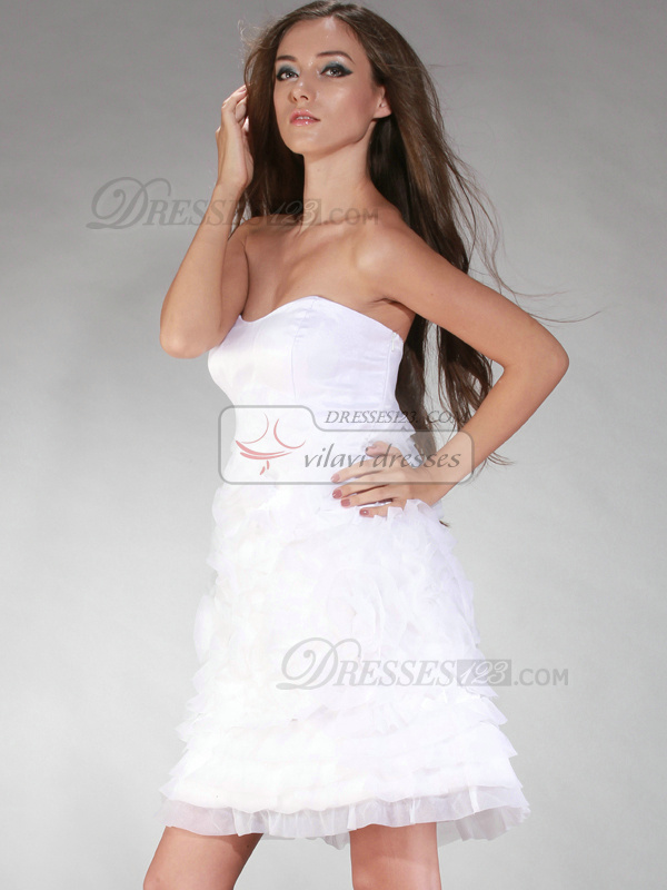 Beautiful Princess Sweetheart Short/Mini Ruffle Graduation/Sweet 16 Dresses