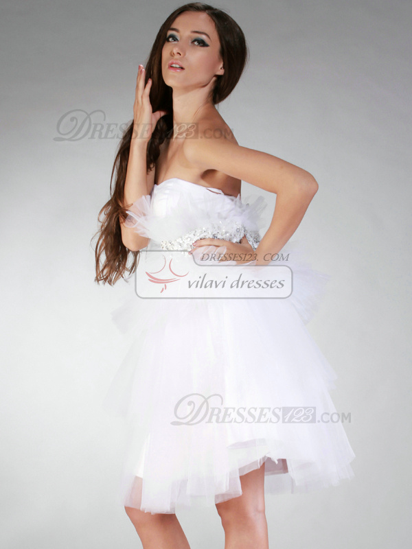 Appealing Princess Sweetheart Short/Mini Ruffles Prom/Sweet 16 Dresses
