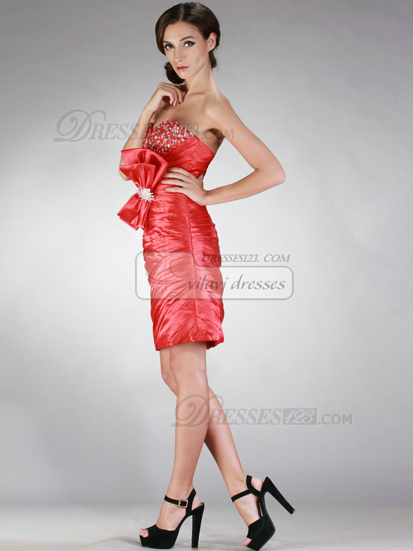 Fantastic Sheath/Column Sweetheart Short/Mini Sequin Cocktail/Homecoming Dresses