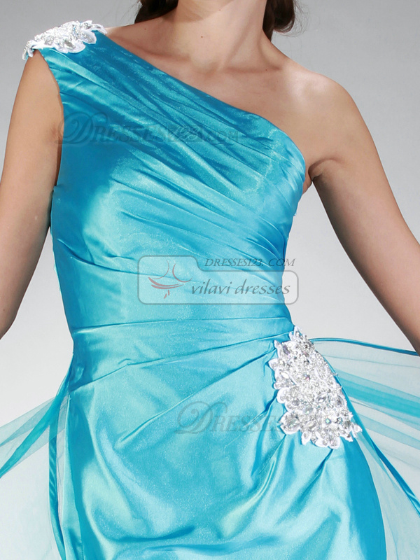 Particular Sheath/Column One shoulder Short/Mini Appliques Prom/Homecoming Dresses