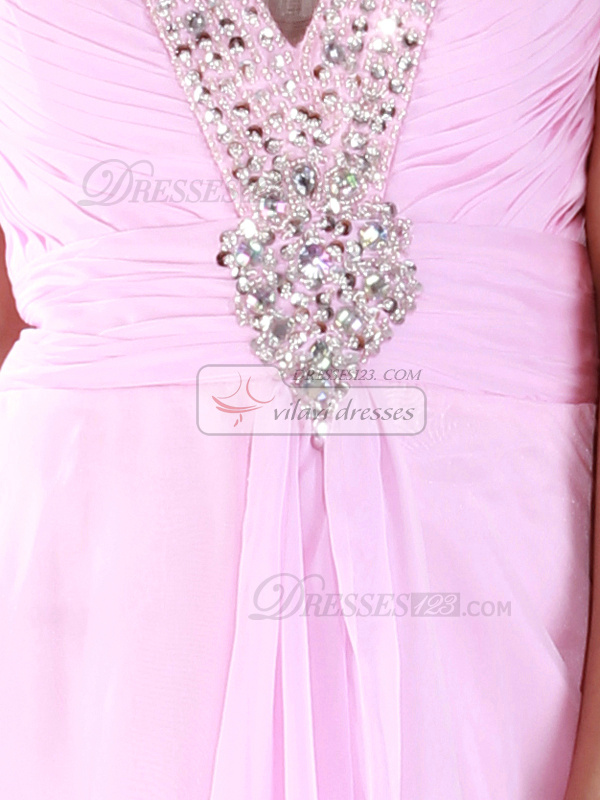 Incomparable A-line Chiffon Knee-length Crystal Cocktail/Sweet 16 Dresses