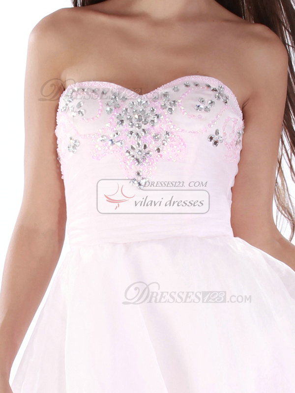 Bravo A-line Sweetheart Short/Mini Rhinestone Homecoming/Sweet 16 Dresses