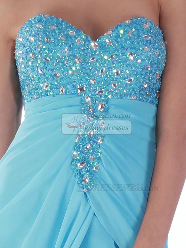 Gorgeous A-line Chiffon Sweep Split Front Prom/Cocktail Dresses