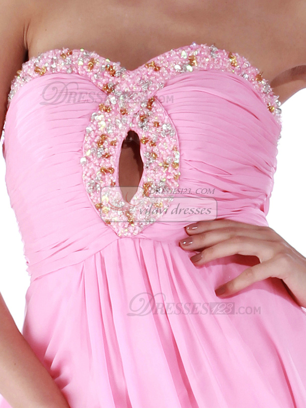 Remarkable A-line Chiffon Sweetheart Sequin Cocktail/Homecoming Dresses