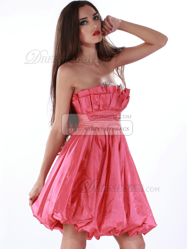 Astonishing Ball Gown Organza Scalloped-edge Short/Mini Cocktail/Homecoming Dresses
