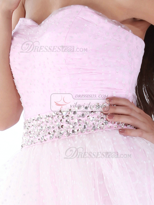 Brilliant A-line Tulle Knee-length Draped Homecoming/Sweet 16 Dresses
