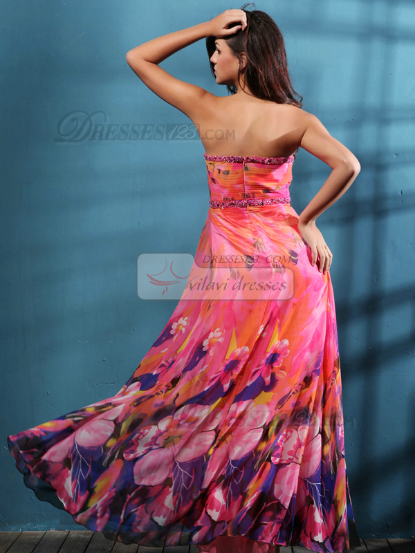 Sexy Sheath/Column Chiffon Floor-length Split Front Prom/Evening Dresses