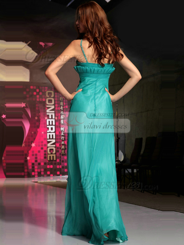 Bravo Sheath/Column Chiffon Straps Crystal Evening/Prom Dresses