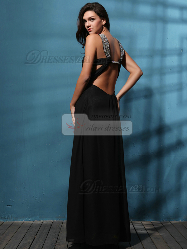Precious A-line Chiffon Floor-length Beading Prom/Evening Dresses