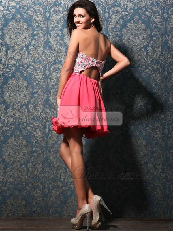 Gorgeous A-line Sweetheart Short/Mini Appliques Homecoming/Sweet 16 Dresses