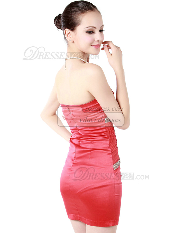 Outstanding Sheath/Column Sweetheart Short/Mini Tiered Cocktail/Prom Dresses