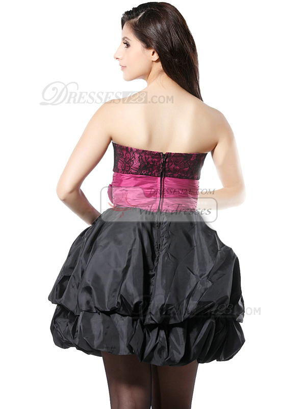 Brilliant Ball Gown Taffeta Short Sweetheart Strapless Sashes Flower Homecoming/Cocktail Dresses