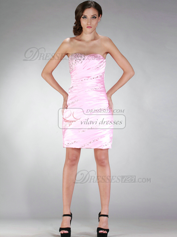 Graceful Sheath/Column Short/Mini Beading Sequin Cocktail/Homecoming Dresses