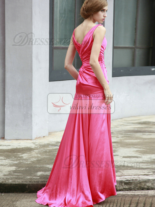 Appealing Mermaid/Trumpet Chiffon Sweep Tiered Evening Dresses
