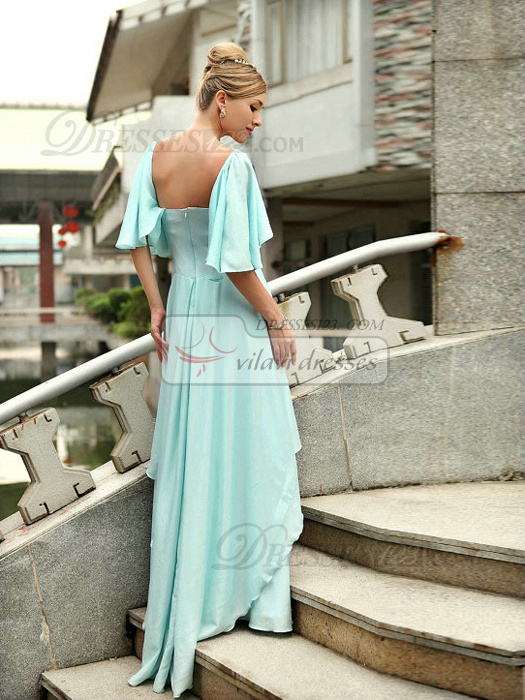 Appealing Sheath/Column Chiffon Sweep Split Front Evening Dresses