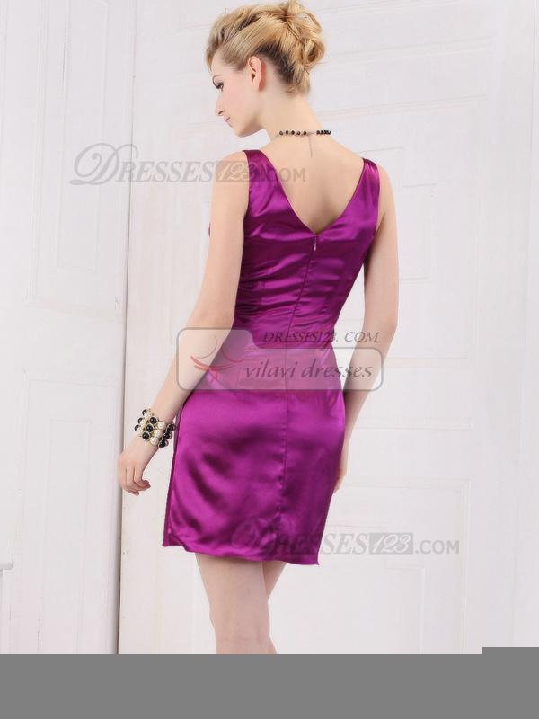 Beautiful Sheath/Column V-neck Straps Short/Mini Prom/Cocktail Dresses