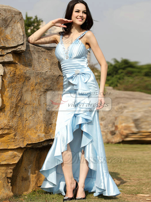 Glamorous Mermaid/Trumpet Taffeta Asymmetrical Train Bowknot Prom/Evening Dresses