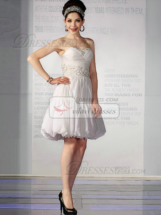 Gorgeous A-line Chiffon Sweetheart Draped Sweet 16/Graduation Dresses