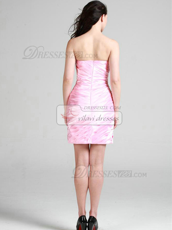 Gorgeous Sheath/Column Elastic Silk-like Satin Sweetheart Tiered Cocktail Dresses