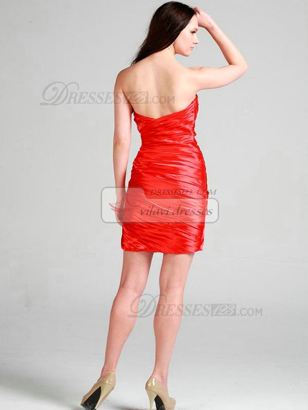 Gorgeous Sheath/Column Sweetheart Short/Mini Bowknot Cocktail/Homecoming Dresses