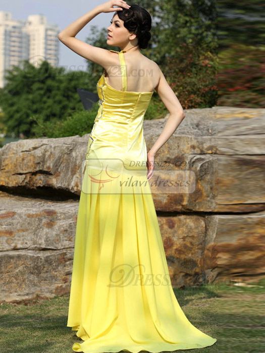 Graceful Mermaid/Trumpet One shoulder Sweep Sequin Evening/Prom Dresses