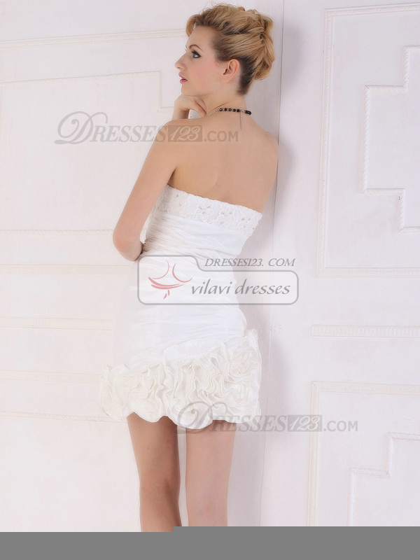 Great Sheath/Column Short/Mini Beading Lace Graduation/Cocktail Dresses