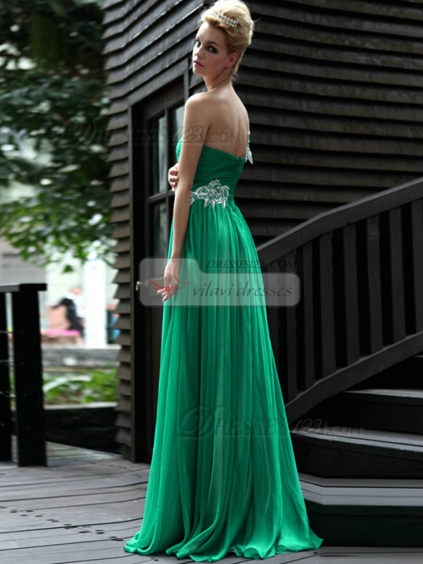 Happiness Sheath/Column One shoulder Floor-length Appliques Evening Dresses