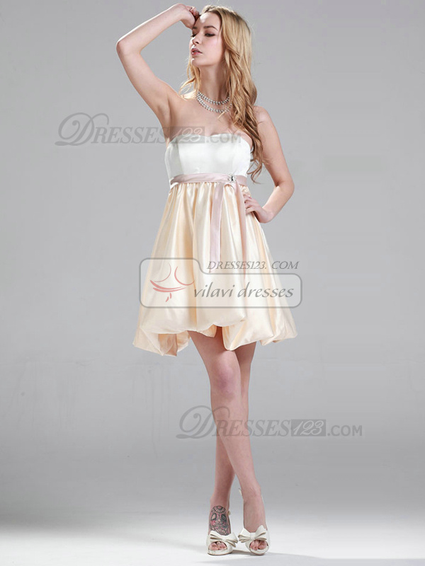 Lovely A-line Short/Mini Sashes/Ribbons Homecoming/Cocktail Dresses