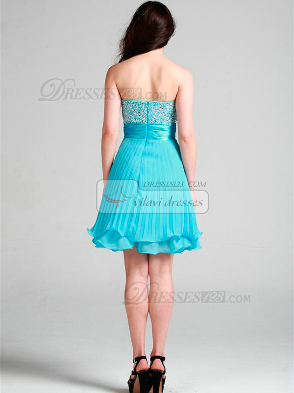 Lovely A-line Sweetheart Short/Mini Beading Cocktail/Homecoming Dresses