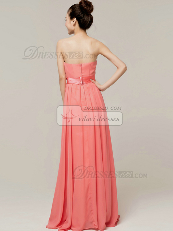 Noble A-Line Tube Top Strapless Sashes/Ribbons Bridesmaid Dresses
